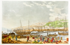 Barcas Bridge, Floating bridge (Beginning of XIX Century)