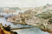 Pênsil Bridge, Suspension Bridge (Middle of XIX Century).