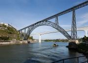 D. Maria Pia Bridge, One Deck Arched Metallic Truss (Late XIX Century)